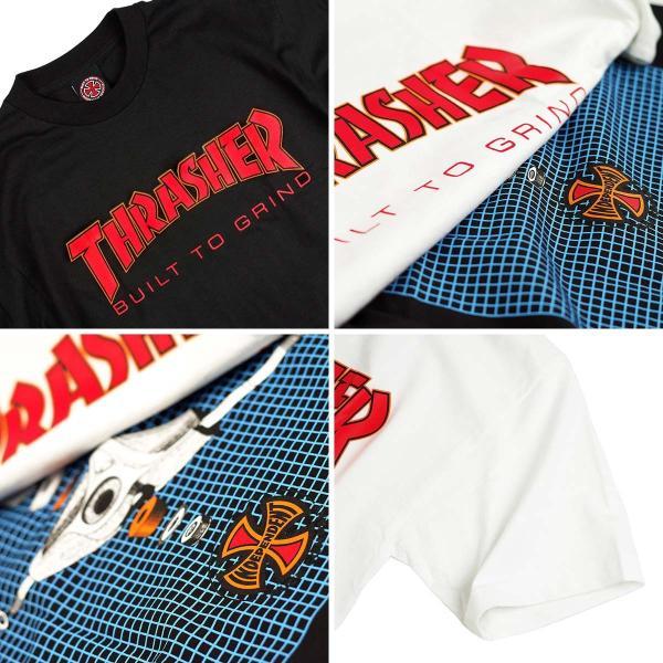 インディペンデント X スラッシャー コラボレート 半袖 Tシャツ ビルドトゥグラインド (BTG INDEPENDENT THRASHER Wネーム インディ)|jalana|06