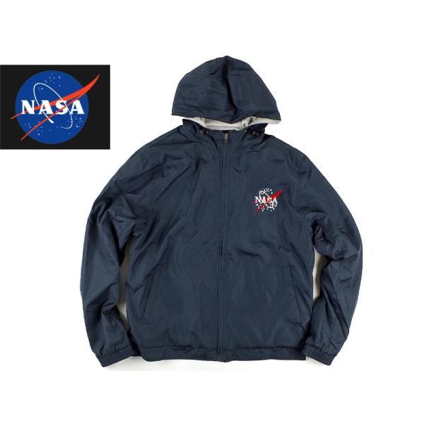 ナサ ジップアップ パーカー /(ウインドブレーカー COLLEGIATE メンズ/) カレッジエイト オフィシャルグッズ NASA