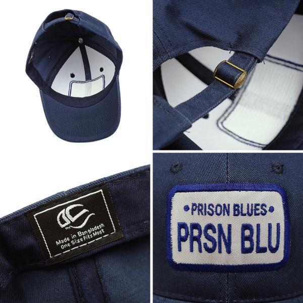 834f780f65614 ... プリズンブルース PRISON BLUES ロゴベースボールキャップ リンスドブルー (ワークキャップ 帽子) ...