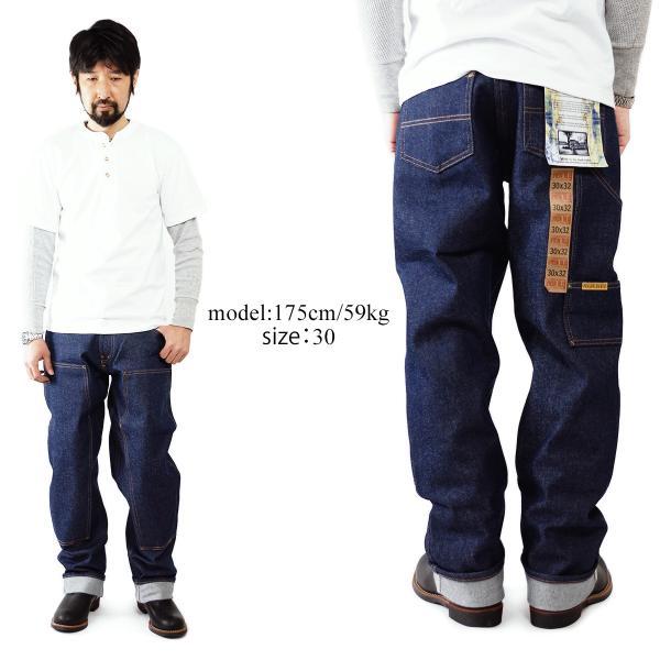 プリズンブルース PRISON BLUES ダブルニーワークジーンズ リジッドブルー (アメリカ製 米国製 デニム ペインターパンツ) jalana 02