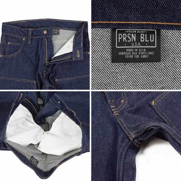プリズンブルース PRISON BLUES ダブルニーワークジーンズ リジッドブルー (アメリカ製 米国製 デニム ペインターパンツ) jalana 06