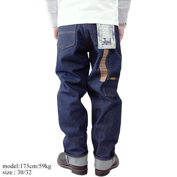 プリズンブルース PRISON BLUES ワークジーンズ リジッドブルー (アメリカ製 米国製 デニム ペインターパンツ)|jalana|03