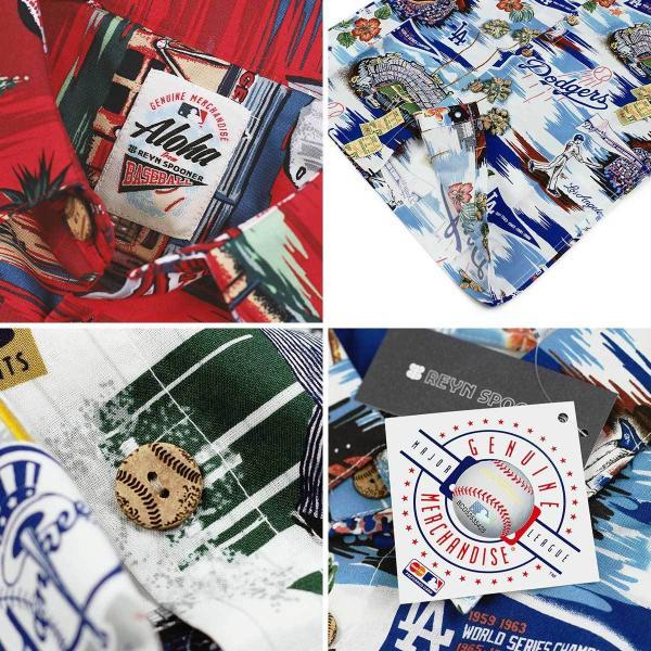 レインスプーナー REYN SPOONER 半袖 ボーイズアロハシャツ フルオープン シーニック メジャーリーグ公式 (MLB メンズ レディース 大谷翔平 グッズ エンゼルス)|jalana|05