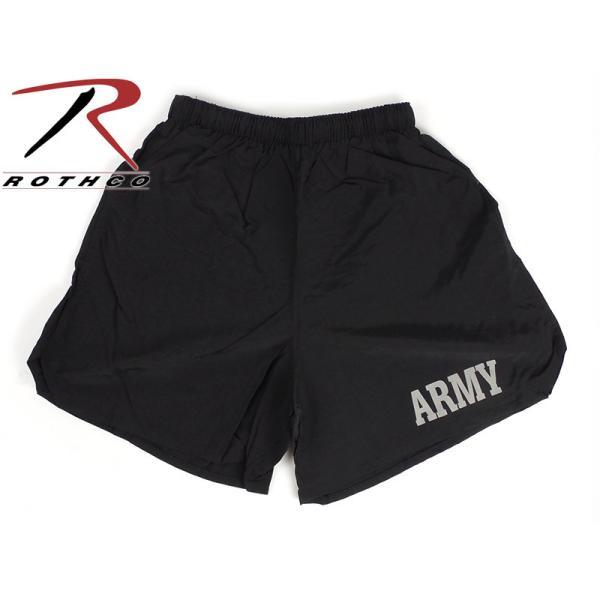ロスコ ROTHCO フィジカルトレーニング アーミーショーツ ブラック (PHYSICAL TRAINING ARMY SHORTS ナイロンショーツ 水着 海パン)|jalana|02