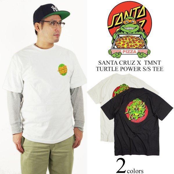 サンタクルズ X 忍者タートルズ パワータートル 半袖Tシャツ (米国流通モデル サンタクルーズ SANTA CRUZ TMNT POWER TURTLES)|jalana