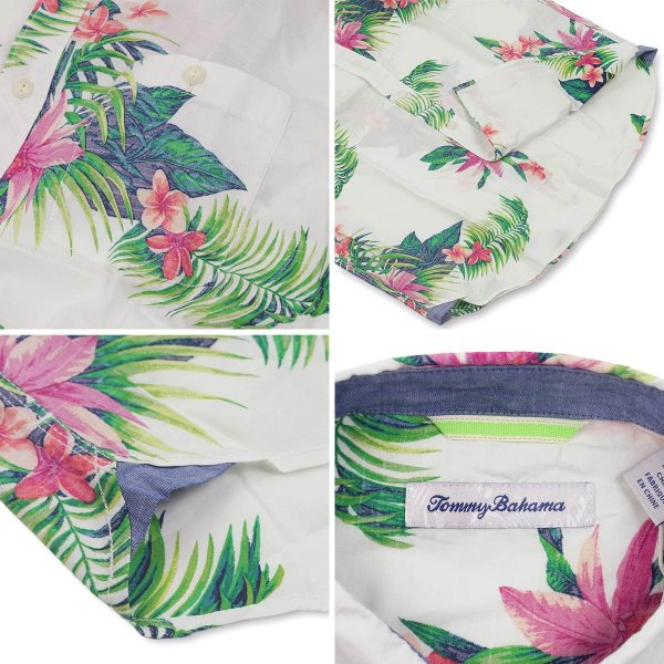 トミーバハマ Tommy Bahama 半袖シャツ アベンザブルームス キャンプシャツ (世界流通モデル Avenza Blooms アロハシャツ)|jalana|04