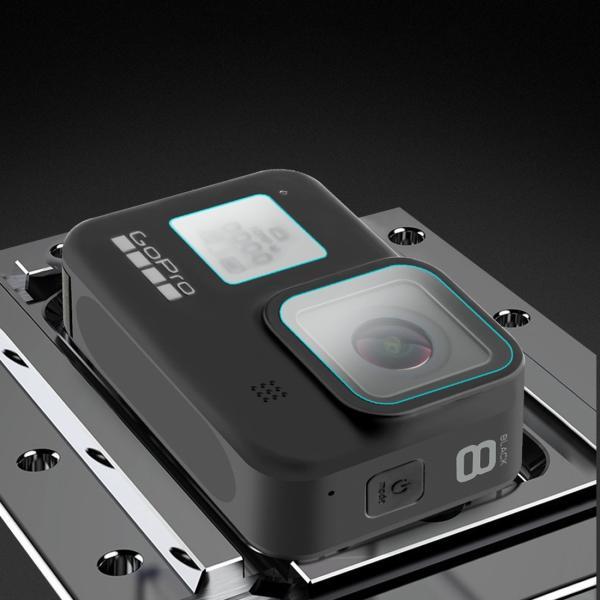 GoPro8 GoPro HERO8 ゴープロ8 アクセサリー セット 自撮り棒 フィルム ケース 3点 シリコン カバー 3way 三脚 棒 ガラス レンズ カメラ 送料無料 説明書付き 8|jam-pack|07