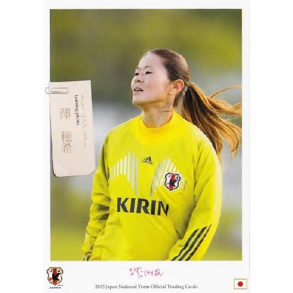 サッカー日本代表オフィシャルカード2013 レギュラー 【なでしこジャパントレーニングカード】 106 澤穂希 (INAC神戸レオネッサ)