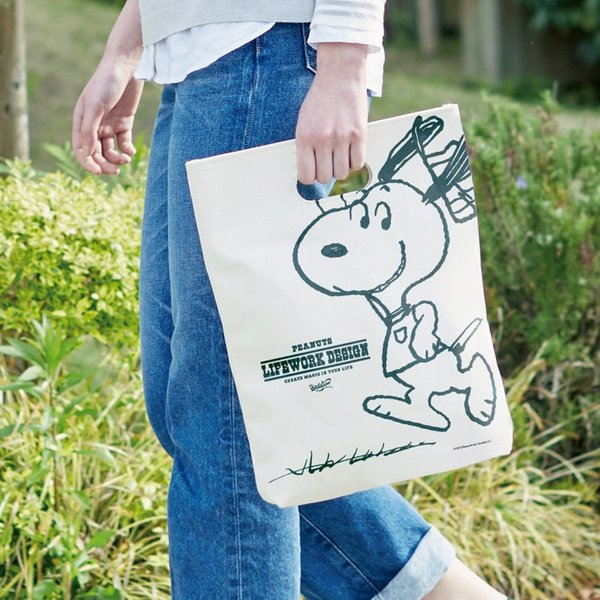 Peanuts Life Work Design WITH ME TOTE|jammy-store|05