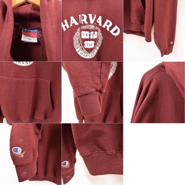 チャンピオン Champion HARVARD ハーバード大学 カレッジスウェットプルオーバーパーカー メンズXL 【中古】 【190811】 /wbg0700|jamtrading1|03
