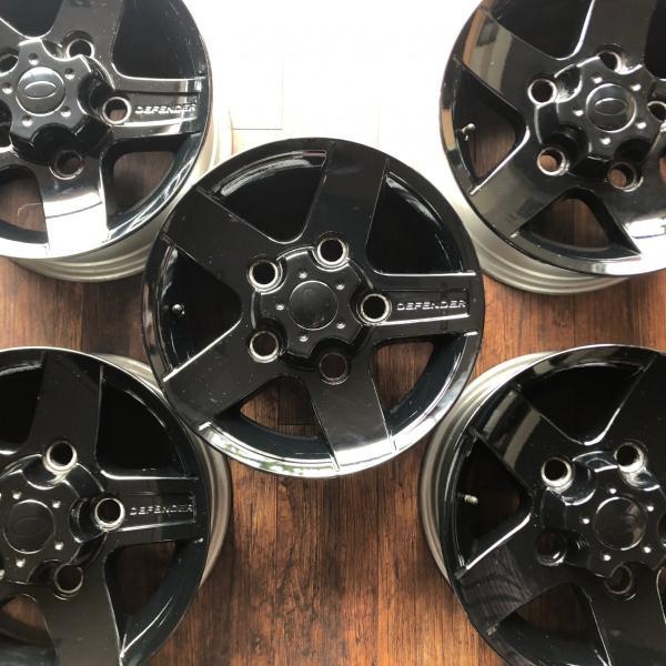 中古ディフェンダー用純正アルミホイール5本セット※ブラック塗装品|jandl-automotive