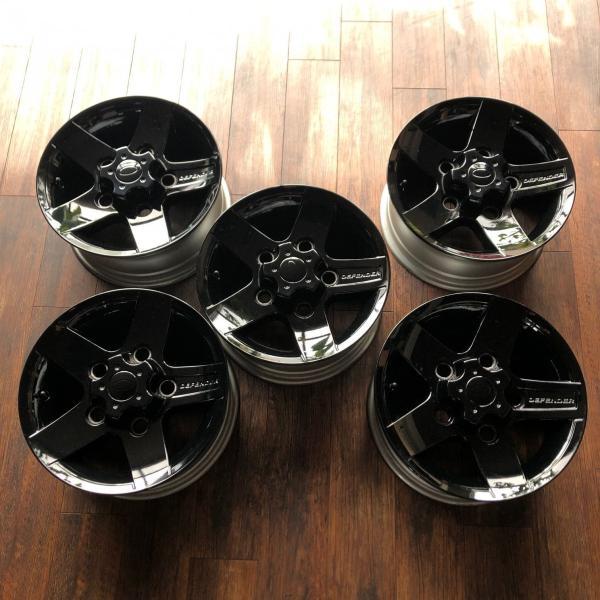 中古ディフェンダー用純正アルミホイール5本セット※ブラック塗装品|jandl-automotive|04