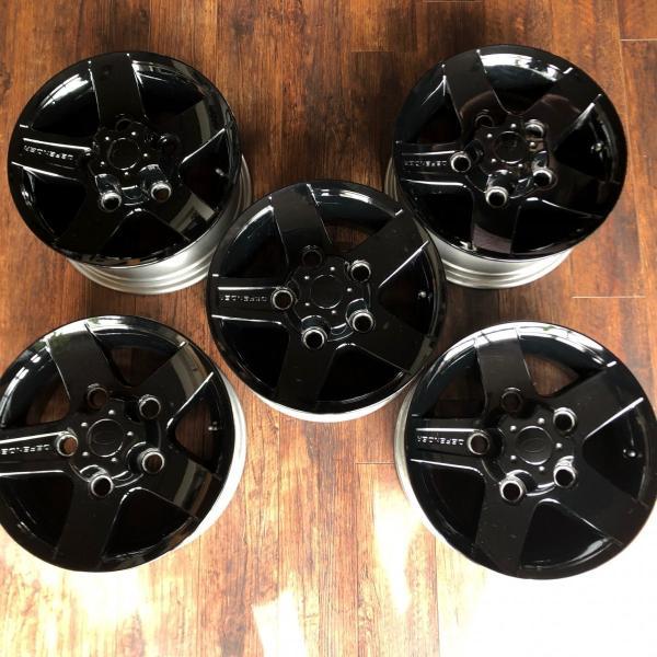 中古ディフェンダー用純正アルミホイール5本セット※ブラック塗装品|jandl-automotive|05