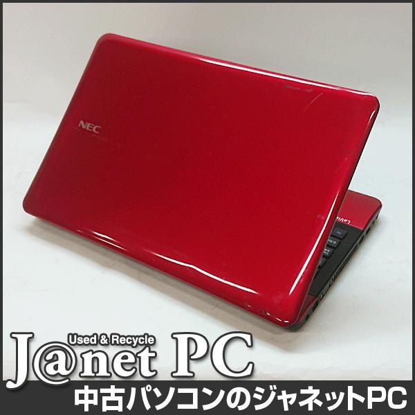 NEC LS Series 中古ノートパソコン Windows10 15.6型ワイド液晶 Core i3-2310M 2.10GHz メモリ4GB HDD500GB DVDマルチ HDMI 無線LAN Office付属 レッド 3277|janetpc|02