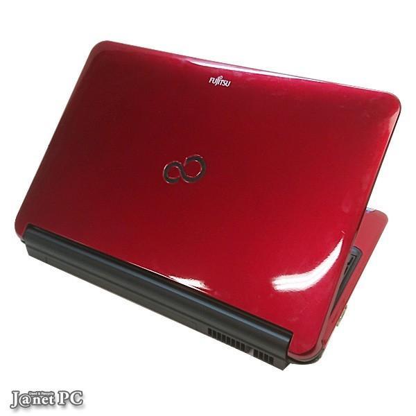新品SSD240GB 富士通 AH Series 中古ノートパソコン Windows10 15.6型ワイド液晶 Core i3-2310M 2.10GHz メモリ4GB マルチ HDMI 無線LAN Office付属 レッド 3307 janetpc 02
