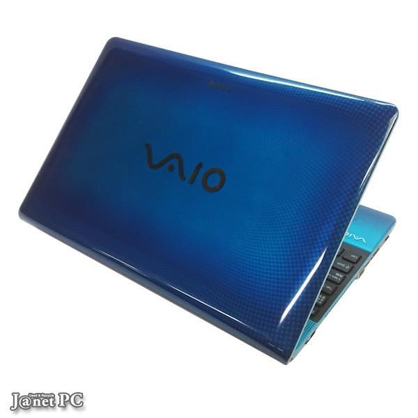 少し訳あり 新品SSD240GB SONY VAIO VPCC or E series 中古パソコン Windows10 15.5型ワイド Core i3-330M 2.13GHz メモリ4GB DVDマルチ 無線LAN Office 3311 janetpc 03