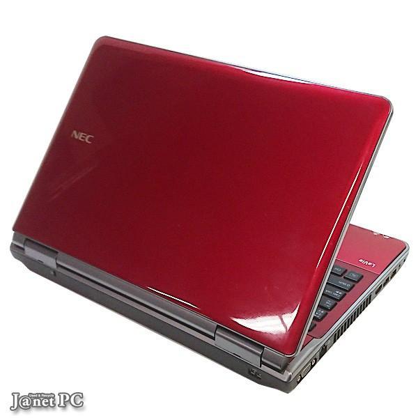 新品SSD500GB NEC LL750 Series 中古パソコン Windows10 15.6型ワイド液晶 Core i7-2670QM 2.20GHz メモリ8GB ブルーレイ HDMI 無線LAN Office レッド 3430|janetpc|03