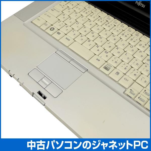 中古ノートパソコン Windows7 B級品特価 高性能モデル Core i5-520M 2.4GHz メモリ2GB HDD160GB DVD 無線LAN Office付属 富士通 E780/A|janetpc|05