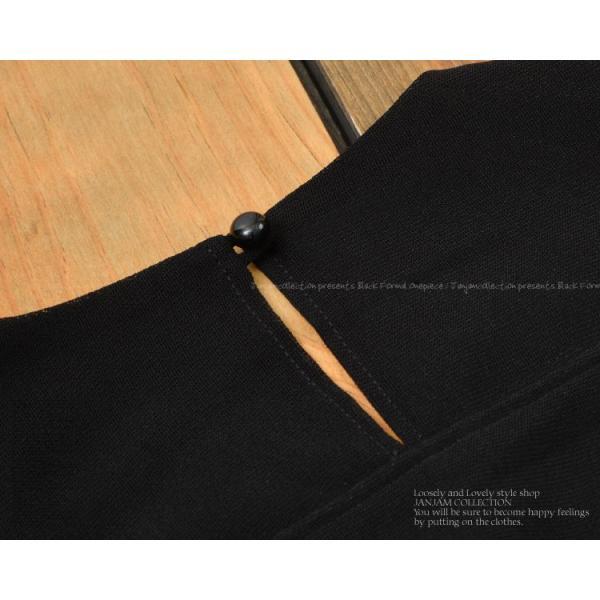 [送料無料]大きいサイズ レディース フォーマルワンピース ロング丈 7分袖 花柄レース シースルー袖 日本製 卒業式 入学式 母 服 LL 3L 4L 5L 6L|janjam|12
