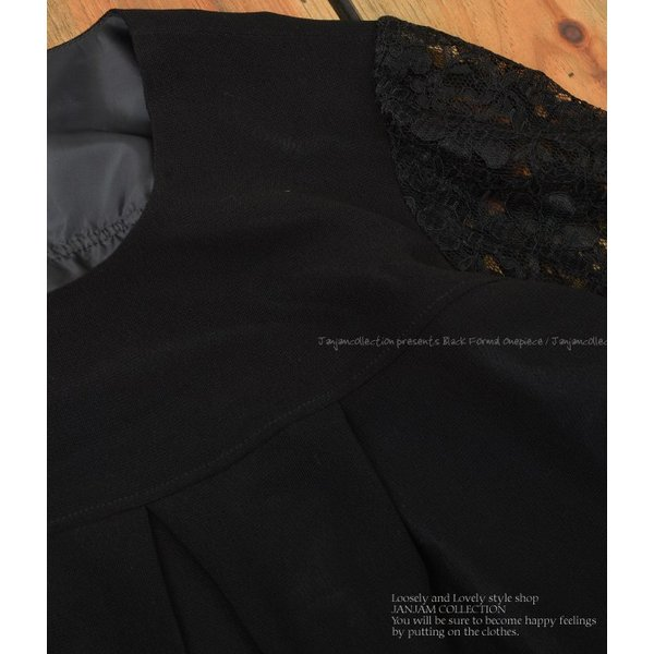 [送料無料]大きいサイズ レディース フォーマルワンピース ロング丈 7分袖 花柄レース シースルー袖 日本製 卒業式 入学式 母 服 LL 3L 4L 5L 6L|janjam|09