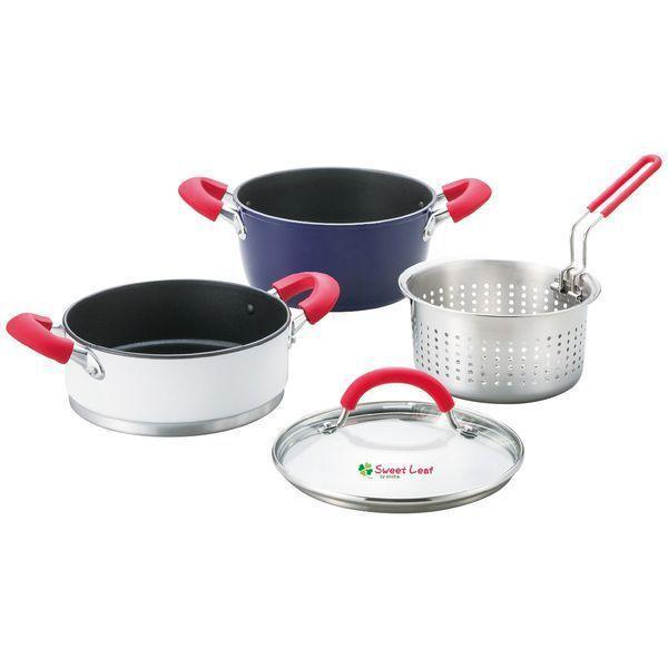 内祝い 内祝 お返し 両手鍋 20cm 調理器具 ギフト 蒸し器 ザル セット スイート リーフ SWL-TR205 (8)
