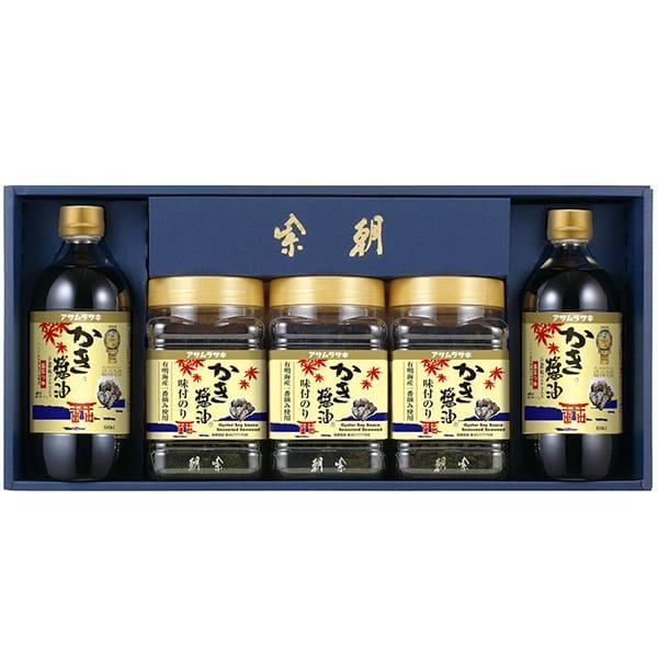 内祝い 内祝 お返し ギフト アサムラサキ 朝紫 かき醤油 味付のりセット 海苔 牡蠣しょうゆ 牡蠣醤油 カキしょうゆ 詰め合わせ 詰合せ AN-30 (3)
