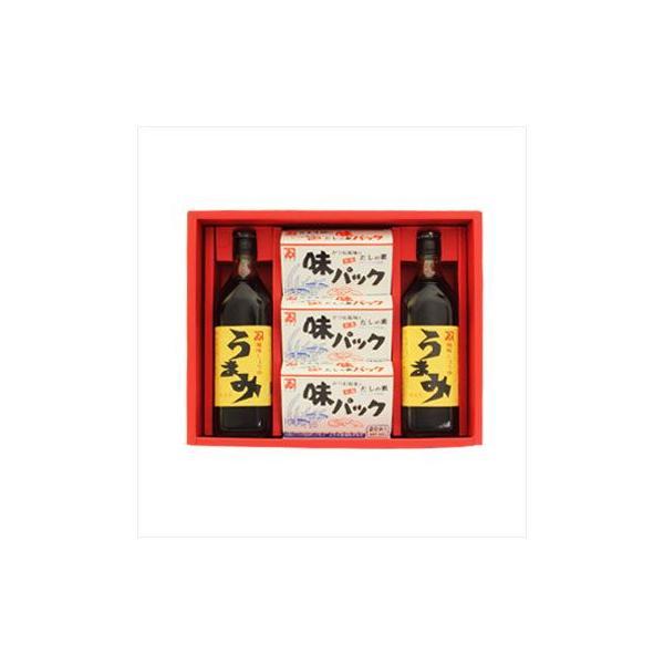 内祝い 内祝 お返し カネイ醤油 うまみ2本・味パック3箱セット (AU-420)【カネヰ醤油】 ギフト 詰め合わせ 詰合せ ギフト