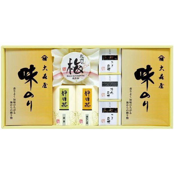 内祝い 内祝 お返し 大森屋 のり 味付け海苔 ギフト セット 梅干し 日本茶 和風惣菜 詰め合わせ 香味彩々 NK-40F (12)