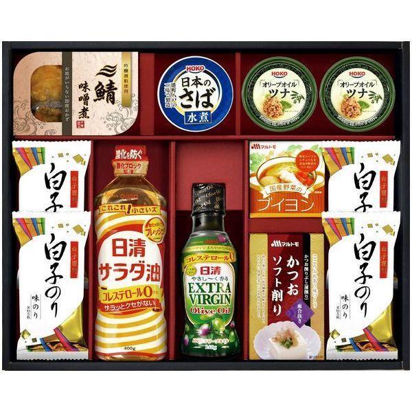 内祝い 内祝 お返し 日清 オリーブオイル 調味料 ギフト セット 白子のり 詰め合わせ OL-50 (10)