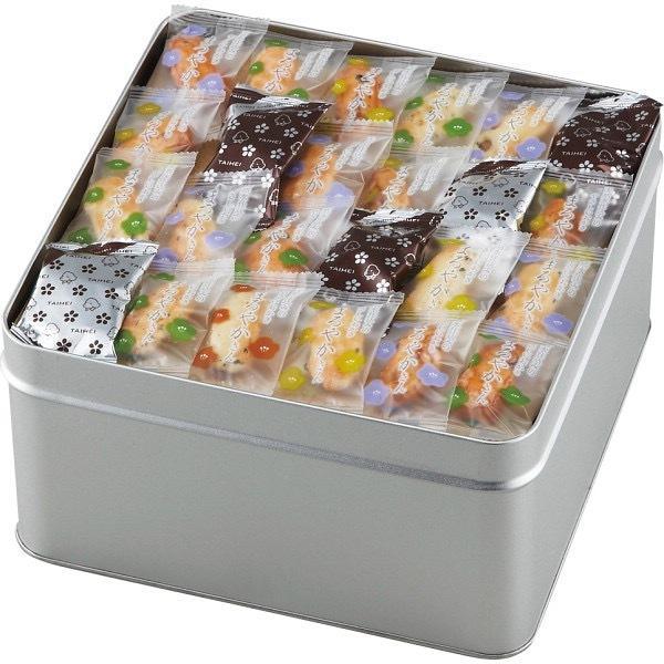 内祝い 内祝 お返し おかき 缶 個包装 ギフト お菓子 セット 詰め合わせ 天然水おかき まろやかさん 510g TM-50 (4)