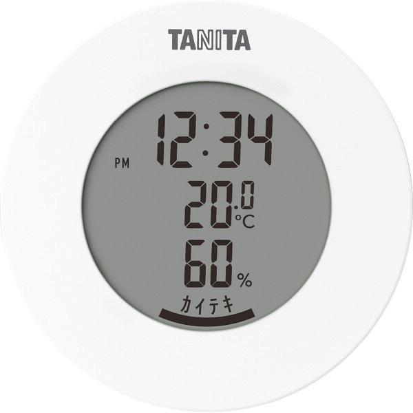 内祝い 内祝 お返し タニタ デジタル 温湿度計 時計 温度計 湿度計 ホワイト TT585WH (24)