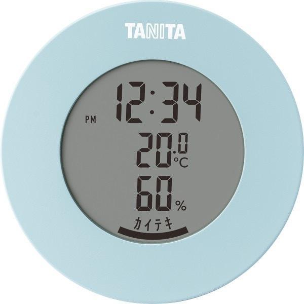 内祝い 内祝 お返し タニタ デジタル 温湿度計 時計 温度計 湿度計 ライトブルー TT585BL (24)