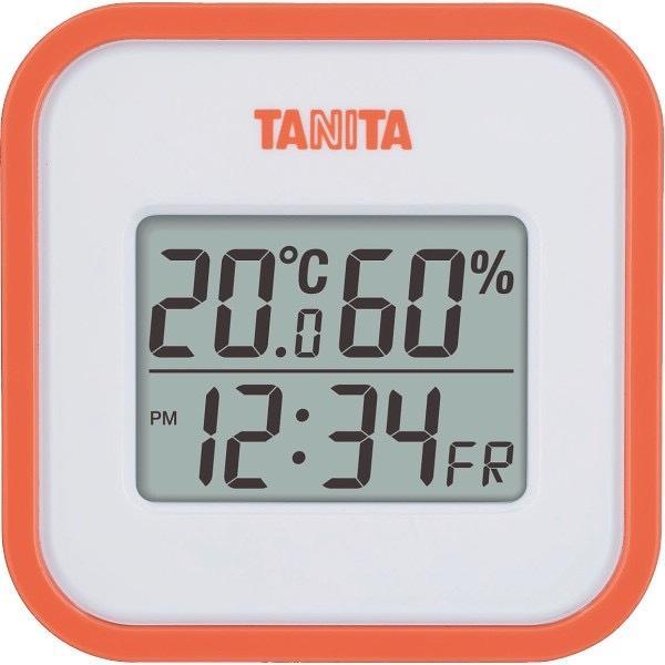 内祝い 内祝 お返し タニタ デジタル 温湿度計 時計 温度計 湿度計 オレンジ TT558OR (24)