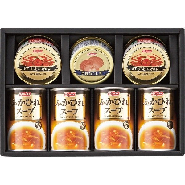 内祝い 内祝 お返し カニカン カニ缶 ギフト 詰め合わせ ニッスイ 水産缶 ふかひれスープ缶 セット FS-50A (6)