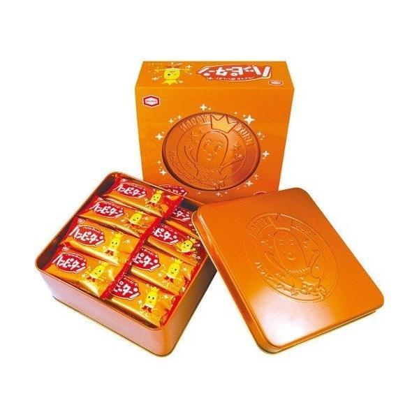 お菓子 亀田製菓 ハッピーターン 缶入り