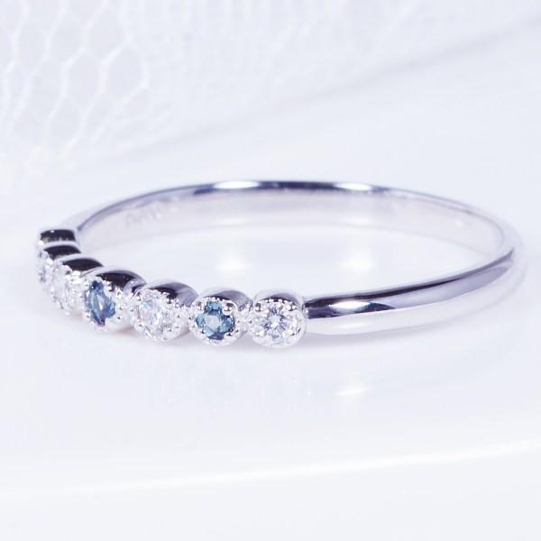 特別奉仕品 プラチナ アレキサンドライトダイヤ デザインリング|japangold|03