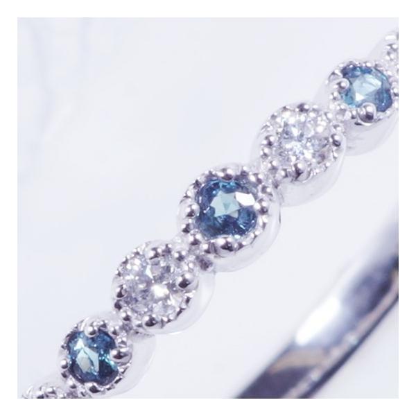 特別奉仕品 プラチナ アレキサンドライトダイヤ デザインリング|japangold|04