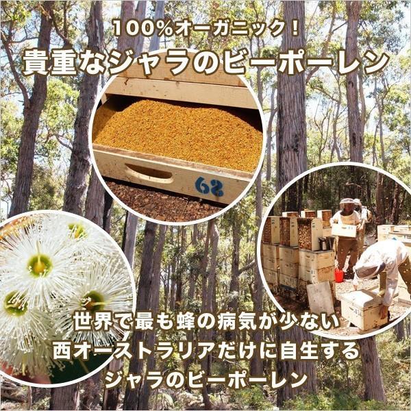 ジャラのスーパーフード ビーポーレン 120g BEEPOLLEN  オーガニック認定 天然のサプリメント みつばち花粉 送料無料 jarrah 03