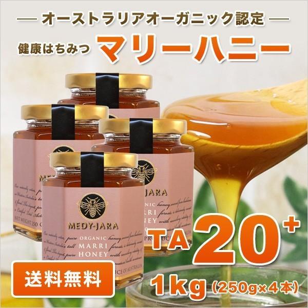 マリーハニー TA 20+ 250g×4本セット 1kg マヌカハニーと同様の健康活性力 オーストラリア・オーガニック認定 はちみつ 蜂蜜 送料無料|jarrah