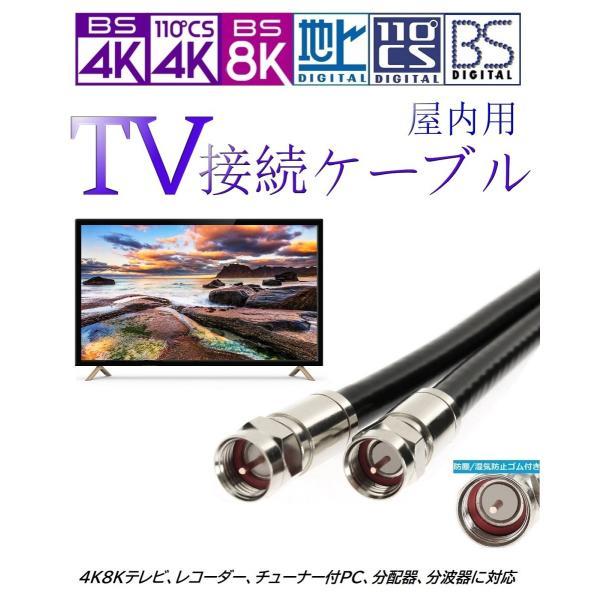 [国内製造] アンテナケーブル 15m 4K8K対応 高品質 軟銅芯線 同軸 S5CFB UHF/VHF/BS/CS/CATV対応 湿気侵入防止リング付き|jasuto-besuto