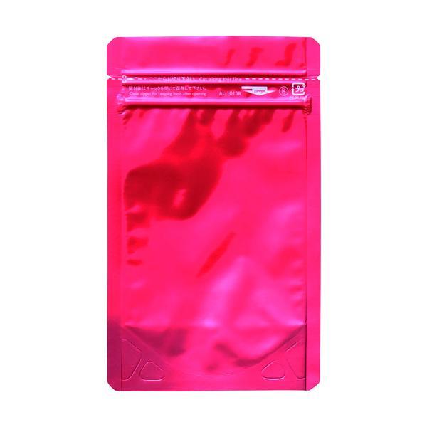 セイニチ 「ラミジップ」 アルミカラースタンドタイプ 赤 130×100+30 (50枚入) AL-1013R