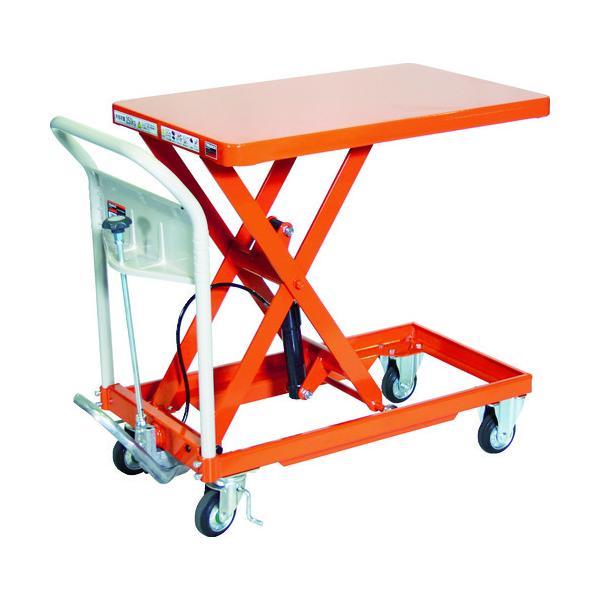(個別送料1000円)(直送品)TRUSCO ハンドリフタ 250kg 500X800 オレンジ HLFA-S250