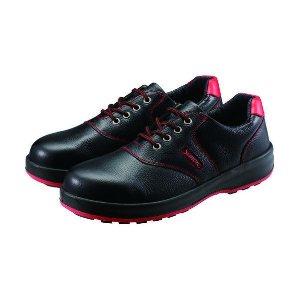 シモン 安全靴 短靴 SL11-R黒/赤 27.5cm SL11R-27.5