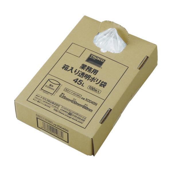 TRUSCO まとめ買い 業務用ポリ袋 透明・箱入り 0.05X120L (100枚入) X0120N