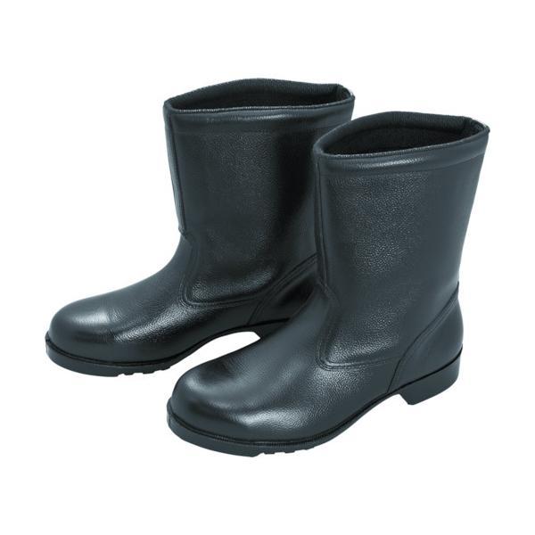 ミドリ安全 ゴム底安全靴 半長靴 V2400N 25.5CM V2400N-25.5