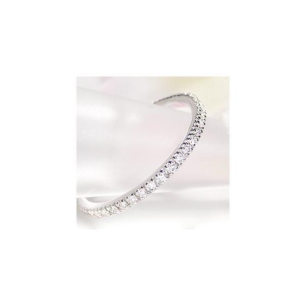 pt900 プラチナ ダイヤモンド ダイヤ 指輪 リング フルエタニティ エタニティ 細身 華奢 ピンキー 0.2ctUP 無色透明 H-SIクラス CAR-0183