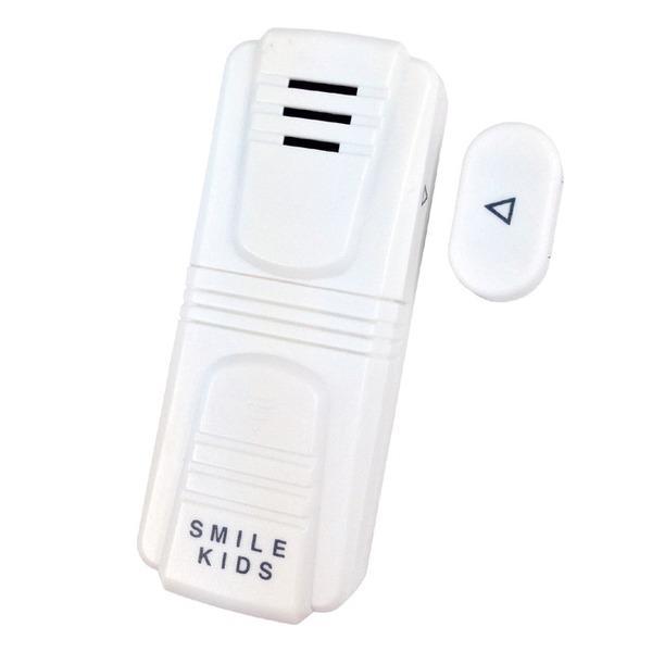 防犯ドアアラームコンパクト 乾電池式 スイッチ付き 屋内用 窓やドアに貼るだけカンタン設置