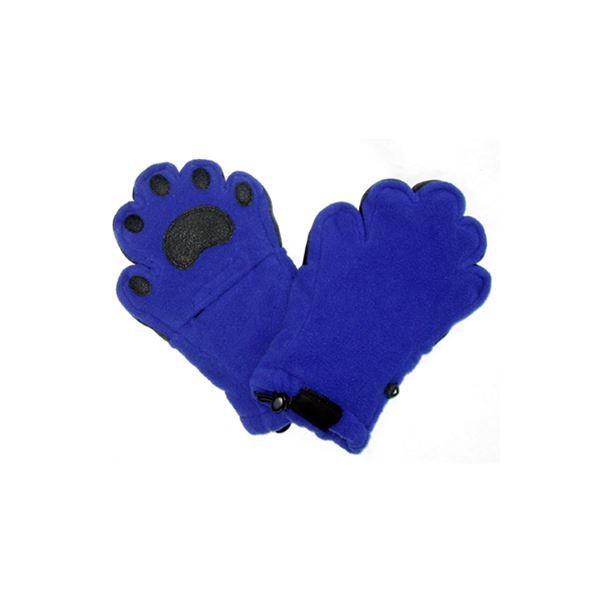 クマの手そっくりの可愛くて暖かいミトン ベアハンズ フリースミトン 幼児用コバルトブルー