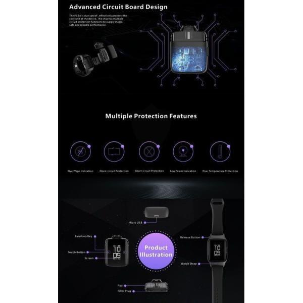 Uwell Amulet Pod System スマートウォッチ型 時計型 電子タバコ|jct-vape|12