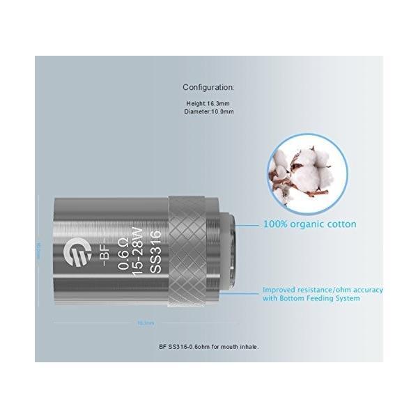 Joyetech BF SS316 coil 5pack eGo AIO / CUBIS / Cuboid Mini  ジョイテック アイオ コイル 5個入り 送料無料 電子タバコ|jct-vape|03